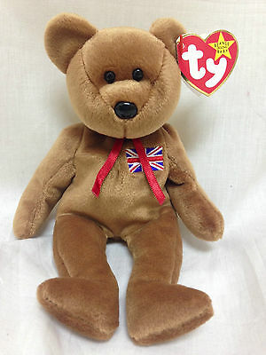 BRITANNIA the bear (UK Exclusive) ~ RETIRED ~ TY Beanie Babies ~ MWMT