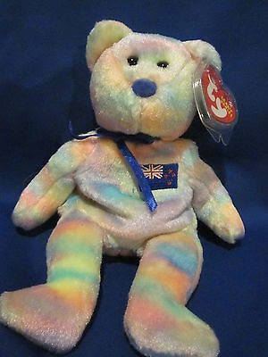 AUSSIEBEAR the Australia Exclusive bear ~ RETIRED ~ TY Beanie Babies ~ MWMT