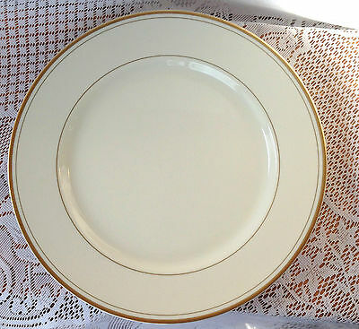 Set of 7 Fitz & Floyd Dinner Plate Gold Rimmed- 10 1/8 inches across (492)