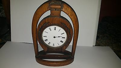 Late19th Century Japy Freres Horseshoe Clock and Key A/F