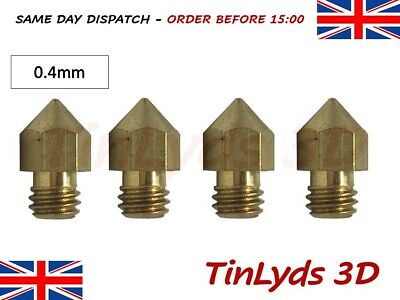 4x MK8 Extruder (marked) 3d Printer Nozzles 0.4mm (d403) CTC , ANET A8 ,1.75mm