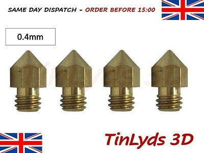 4x mk8 extruder (marked)  3d printer Nozzle 0.4mm CTC prusa Makerbot 1.75mm