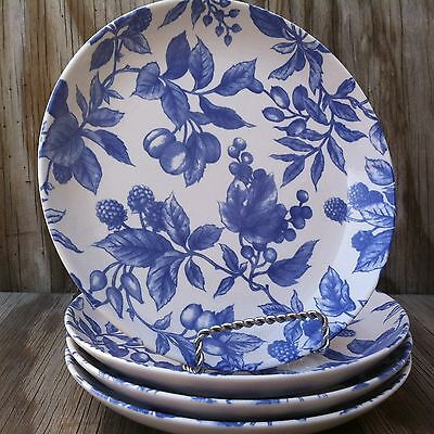 Century Stoneware Blueberry Hill Salad Plates Set Of 4 Made In Japan