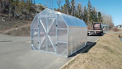 Greenhouse Light Steel kit 8'x16' full Kit GH816FK