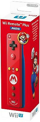 Official Nintendo Wii U Remote Plus Red Controller - Mario Edition NEW Sealed