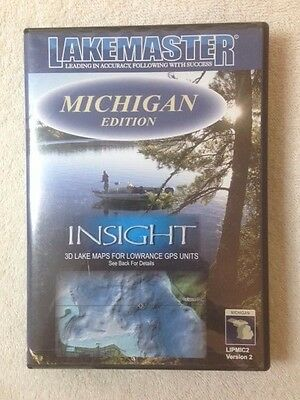USED Lakemaster insight GPS chart card for Lowrance units, Michigan edition