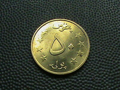AFGHANISTAN   50  Pul    1978    ( 1357 )   BRILLIANT  UNCIRCULATED