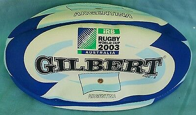 New Gilbert Football + Bonus Cap -- Rugby Union World Cup 2003 -- Argentina