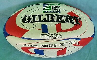 New Gilbert Football + Bonus Cap -- Rugby Union World Cup 2003 -- France