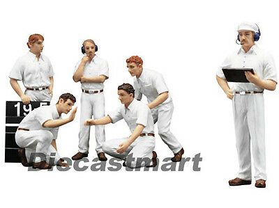 True Scale Miniatures 1:18 Tsm12Ac10 F1 Pit Crew Figurines Classic Style White