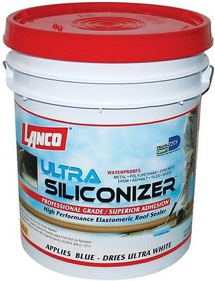 Roof Sealer 5 Gal. Ultra-Siliconizer Surface Membrane Sealant Heat Reduction