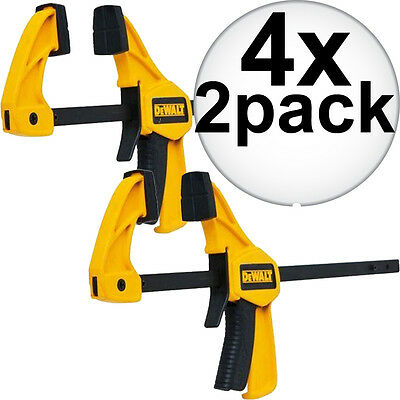 "4x 2pk (8 Total) 4.5"" Small Trigger Clamps DeWalt DWHT83148 New"
