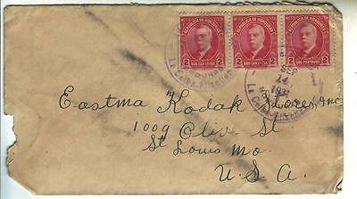 Honduras cover 1931 to Saint Louis USA