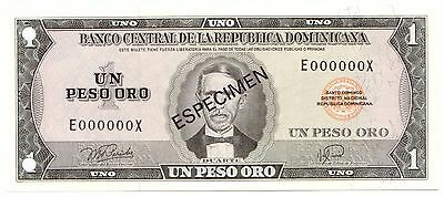 Dominican Republic P#108s D(1978) 1 Peso Oro Uncirculated Specimen Note [681.05]