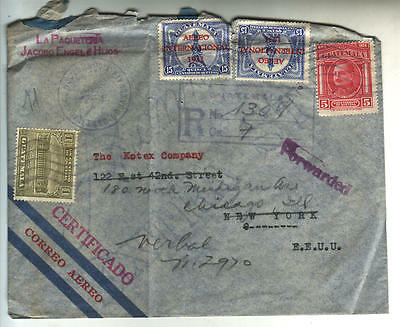 Guatemala 1933 registered air mail cover