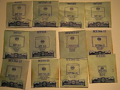 Lot of 12 ELGIN GS Flexo replacement watch crystals NOS Lot#2