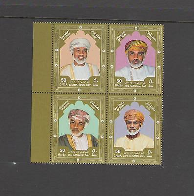 OMAN: Sc.456 /**SULTAN QABOOS-31ST NATIONAL DAY  **/  BLOCK OF 4  /  MNH.