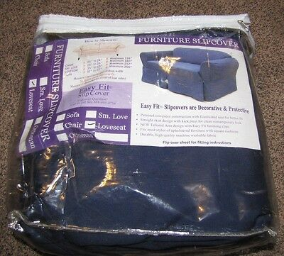 Easy Fit SlipCover for Loveseat, Blue, New in package