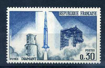 FRANCE 1965 timbre 1464, Fusée Diamant, neuf**, SPACE, MNH STAMP