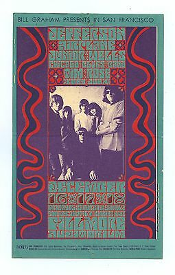 Bill Graham 42 Postcard Mailed Jefferson Airplane Time Rose 1966 Dec 16