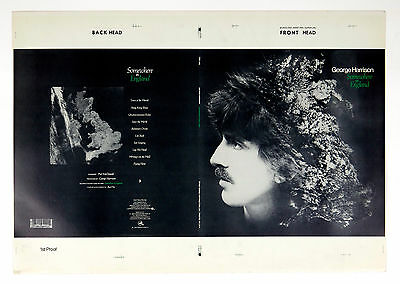GEORGE HARRISON Somewhere In England LP Jacket 1st Proof 1980 Rejected Version