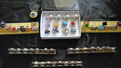 Price Drop!!  Bulk Jewellery Lot - (53) Variety Quality Mens And Ladies Rings
