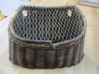 Vintage Wicker Fishing Creel  Small  tapered sides