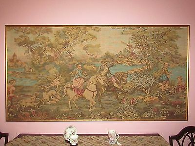"ANTIQUE XX-LG TAPESTRY SCENE OF VENICE ITALY- RENAISSANCE 39"" x 76"""