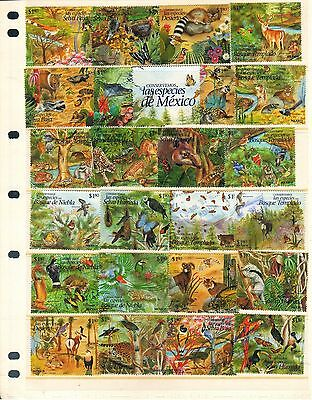 583 MEXICO Collection 250 Dif Commemorative Used Stamps Issued 1985-1999