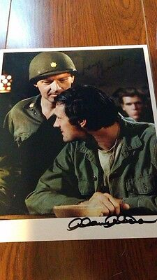 MASH - Autographed photo signed by Alan Alda and Larry Linville -- RARE!