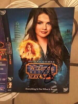 Selena Gomez Revival Wizards of Waverly Place Disney Autograph Signed DVD COVER