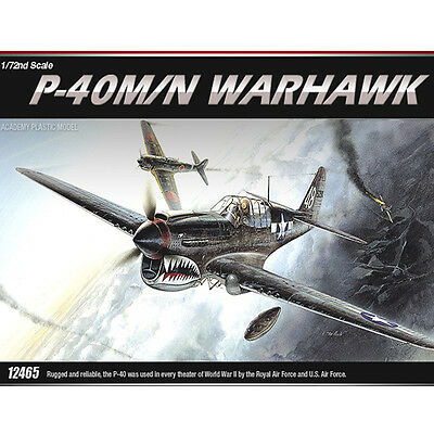 Academy 1/72 P-40M/N WARHAWK Fighter Plastic Model Kit Airplanes #12465