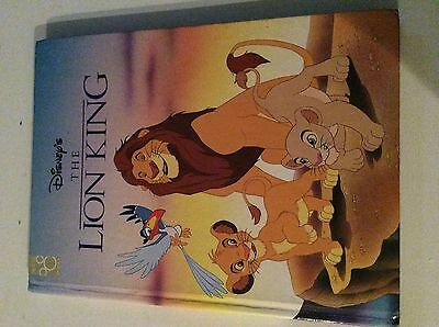 "The Lion King Vintage Book 1994 Hardcover Disney Mouse Works 11.5"" Sim a Muffs a"