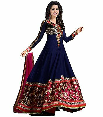 Indian Pakistani Anarkali Designer Semi Stitched Salwar Kameez Kurta Suit