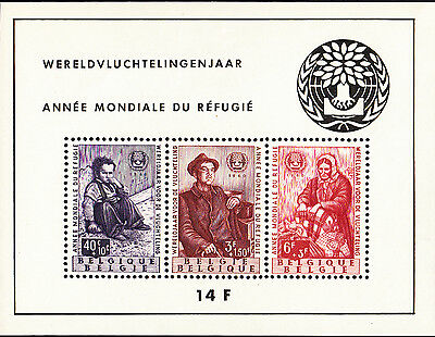 Belgium 1960 World Refugee Year Minisheet MUH