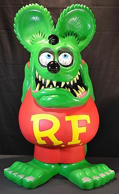 "Large 24"" Funko Rat Fink Coin Bank Ed ""Big Daddy"" Roth Licensed"