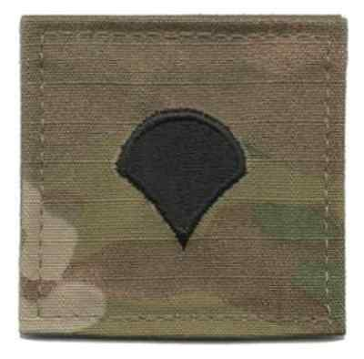 MULTICAM Rank Army Specialist E-4 Rank Insignia Hook Backing Patch