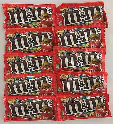 900521 10 x 46.2g PACKETS OF PEANUT BUTTER M&M's - CHOCOLATE CANDIES! - U.S.A.