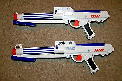 Nerf Star Wars Clone Trooper Rebel foam blaster toy dart gun LOT 2 RARE Light Up