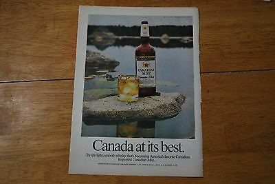 Canadian Mist 1974 Playboy Magazine ad - Excellent