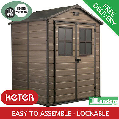 Keter Scala 6x5 Garden Shed -Weatherproof Storage 1.85mx1.52m WITH FREE BONUS