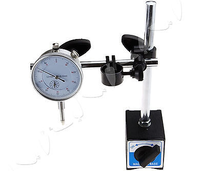 DTI Stand With Magnetic Base + Dial Test Indicator 0.01mm Accurate 0-10mm