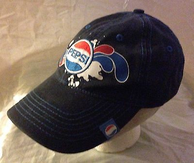 Pepsi Splash Logo Navy Blue Baseball Cap Hat 2007 Pepsico Retro