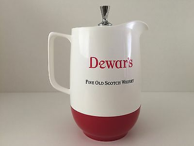 Dewars Fine Old Scotch Whisky Retro Red And White Jug Made By Marquis Australia