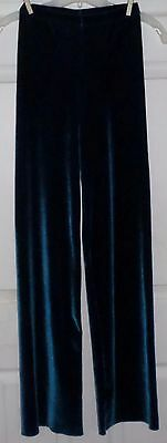 Major Motion Dance Wear Pants Adult Small Velour Teal Stretch Tall
