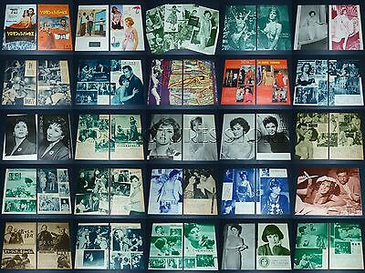 (50) Lot GINA LOLLOBRIGIDA 1950s/60s Vintage JPN/JAPAN PICTURE CLIPPINGS #6W1