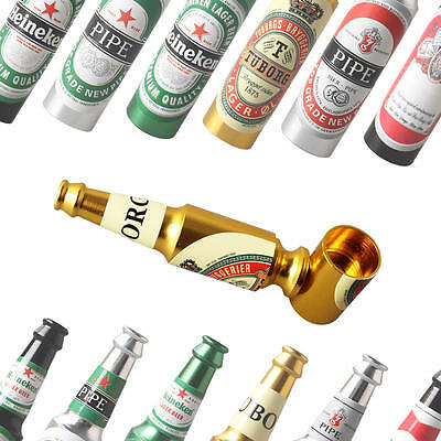 Pipes Beer Bottle Cigar Small Smoking Tobacco Pipe Gift  Pocket Size