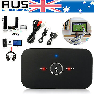 2 in1 Wireless Bluetooth Audio Transmitter Receiver 3.5MM RCA Music HIFI Adapter