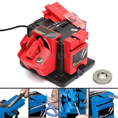 Multi Purpose Electric Drill Bit Chisel Knife Scissor Sharpener Grinder Tool 96W
