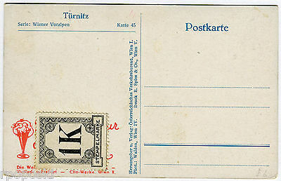Early Austrian Postcard With Unknown Private Revenue Stamp Stempelmarke Unused